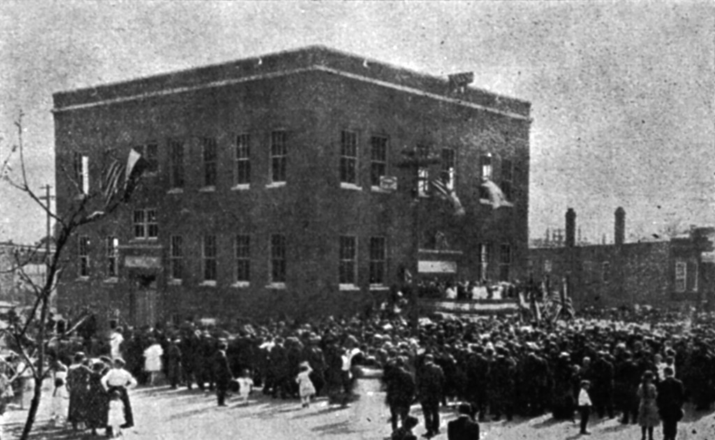 Opening of the T. G. Masaryk School in 1921